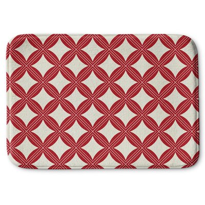 Christmas in Plaid 2 Memory Foam Bath Rug Size: 24 W x 36 L