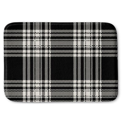 Plaid Memory Foam Bath Rug Size: 17