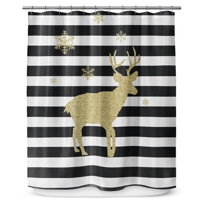 Snow Deer 90 Shower Curtain