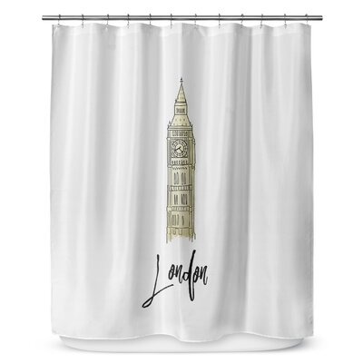London 90 Shower Curtain