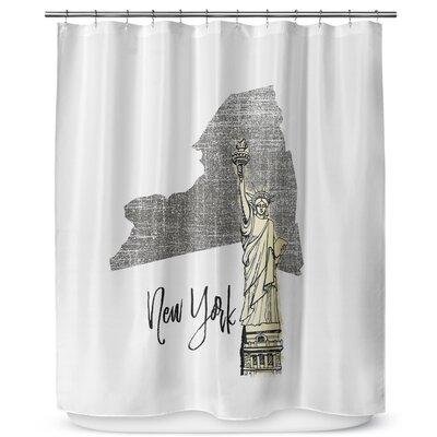 New York 90 Shower Curtain