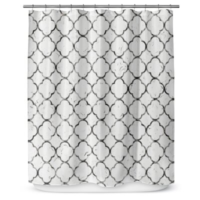 Ogee 90 Shower Curtain Color: Gray