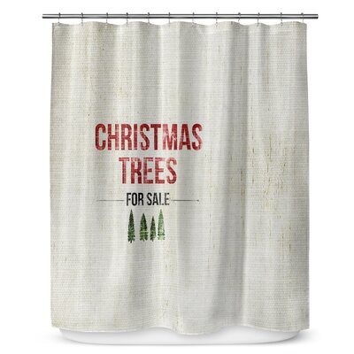 "Christmas Tree for Sale 90"" Shower Curtain SCT-LPLSC-70X90-TEL1040"