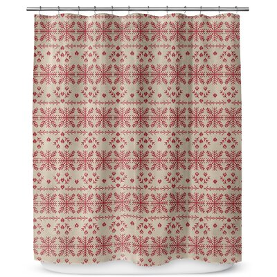 Christmas in Red 90 Shower Curtain