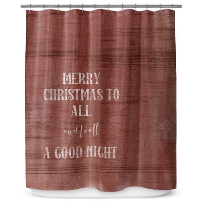 "Merry Christmas to All 90"" Shower Curtain SCT-LPLSC-70X90-TEL1057"