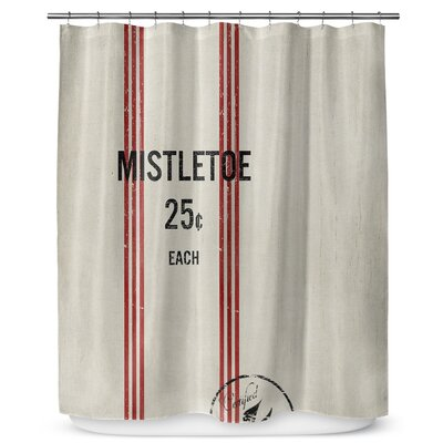 Mistletoe 90 Shower Curtain