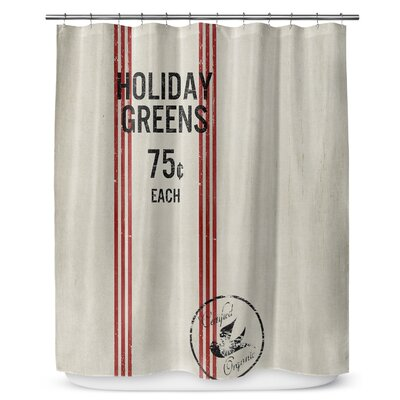 Holiday Greens 90 Shower Curtain