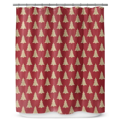 Christmas Tree 90 Shower Curtain