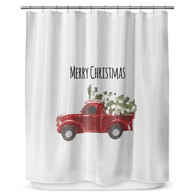Christmas Truck 90 Shower Curtain