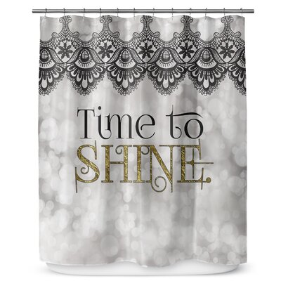 Time to Shine 72 Shower Curtain
