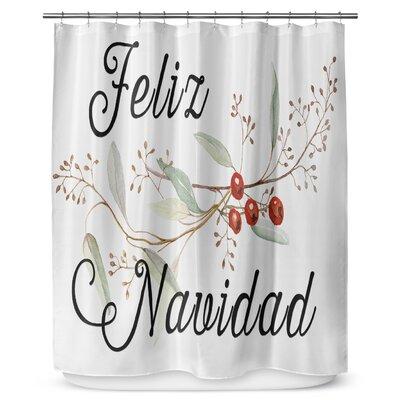 Feliz Navidad 90 Shower Curtain