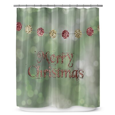 "Merry Christmas 90"" Shower Curtain SCT-LPLSC-70X90-PLU2650"