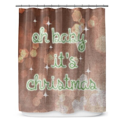 Oh Baby Its Christmas 90 Shower Curtain