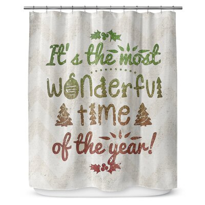 Wonderful Time 90 Shower Curtain