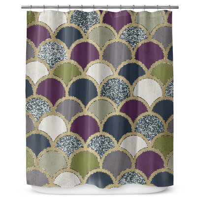 Scales 72 Shower Curtain Color: Dark Gray / Purple