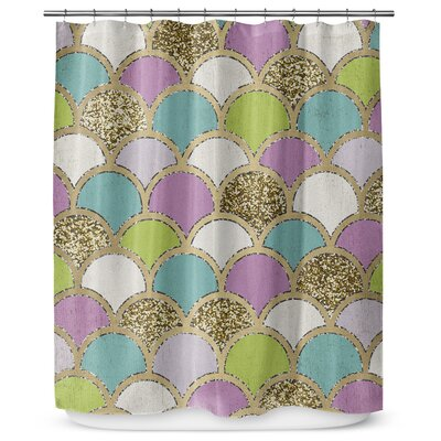 Scales 72 Shower Curtain Color: Blue / Green