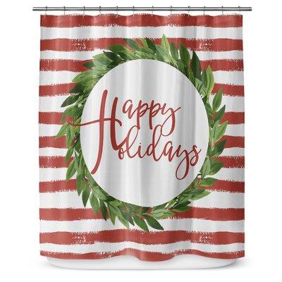 Happy Holidays 90 Shower Curtain