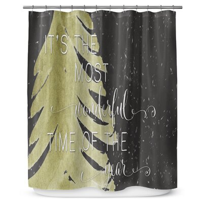 Its the Most Wonderful 90 Shower Curtain