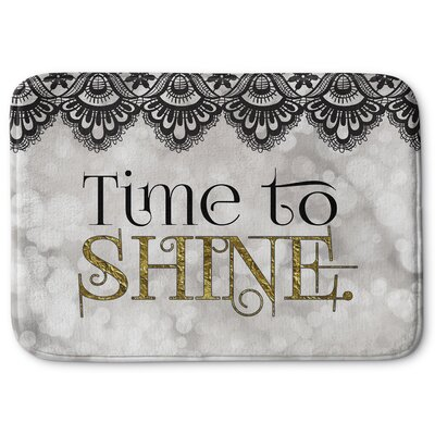 Time to Shine Memory Foam Bath Rug Size: 17 W x 24 L