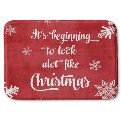 Looks a Lot Like Christmas Memory Foam Bath Rug Size: 24 W x 36 L
