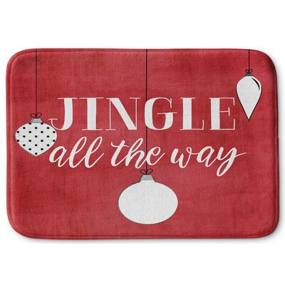 Jingle All the Way Memory Foam Bath Rug Size: 24 W x 36 L