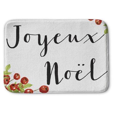 Joyeux Noel Memory Foam Bath Rug Size: 24 W x 36 L
