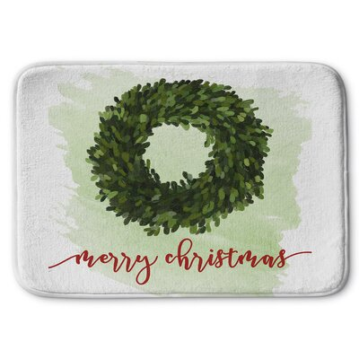 Merry Christmas Memory Foam Bath Rug Size: 24