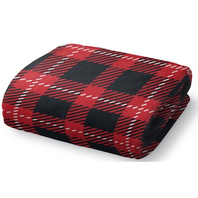 Christmas in Plaid Fleece Throw Blanket Size: 60