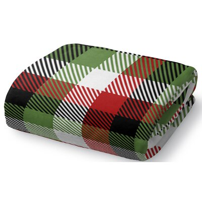 Christmas Plaid Fleece Throw Blanket Size: 90 W x 90 L