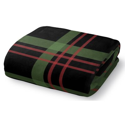 Christmas Plaid Fleece Throw Blanket Size: 30 W x 40 L