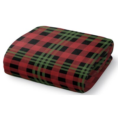 Christmas Plaid Fleece Throw Blanket Size: 50 W x 60 L