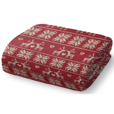 Christmas Love Fleece Throw Blanket Size: 50