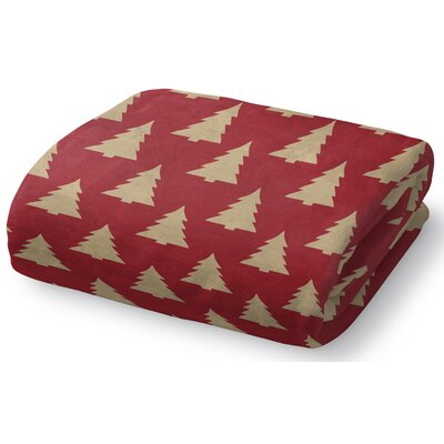 Christmas Tree Fleece Throw Blanket Size: 50 W x 60 L