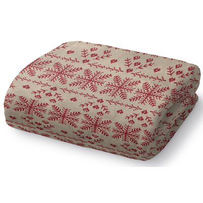Christmas in Red Fleece Throw Blanket Size: 30
