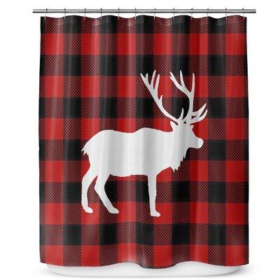 Deer Plaid 90 Shower Curtain