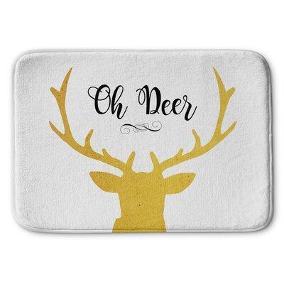 Oh Deer Memory Foam Bath Rug Size: 24