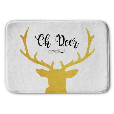 Oh Deer Memory Foam Bath Rug Size: 17 W x 24 L