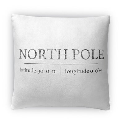 North Pole Fleece Throw Pillow Size: 18 H x 18 W x 4 D