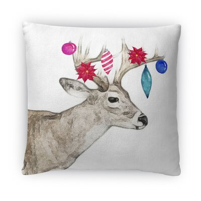 Jingle Deer Fleece Throw Pillow Size: 18 H x 18 W x 4 D