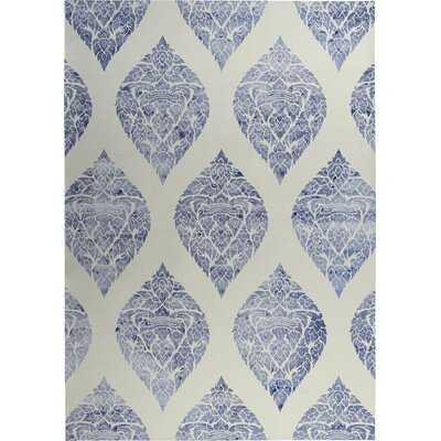 Fortney Beige/Blue Indoor/Outdoor Doormat Rug Size: Square 8