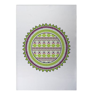 Tribal Tango Indoor/Outdoor Doormat Rug Size: 4 x 5, Color: Lime