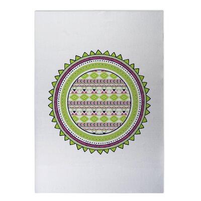 Tribal Tango Indoor/Outdoor Doormat Rug Size: 8 x 10, Color: Lime
