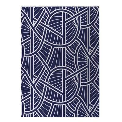 Geo Vines Indoor/Outdoor Doormat Rug Size: Square 8 x 8
