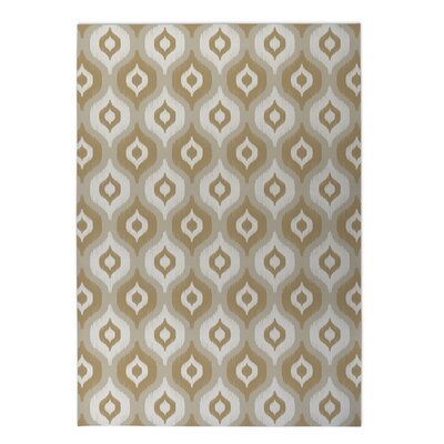 Underhill Indoor/Outdoor Doormat Mat Size: Rectangle 2 x 3, Color: Tan/ Ivory/ Gold