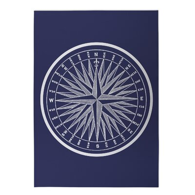 Nautical Compass Indoor/Outdoor Doormat Rug Size: Rectangle 5 x 7