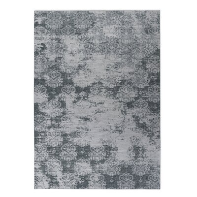 Victoire Indoor/Outdoor Doormat Color: Black, Rug Size: 4 x 5