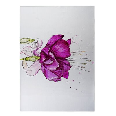 Draping Flower Doormat Mat Size: Rectangle 2 x 3