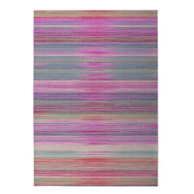 Abstract Sunset Indoor/Outdoor Doormat Rug Size: Rectangle 2 x 3