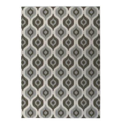 Underhill Indoor/Outdoor Doormat Rug Size: Rectangle 2 x 3, Color: Grey/ Ivory