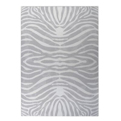 Nerbone Indoor/Outdoor Doormat Rug Size: Square 8 x 8, Color: Grey/ Ivory